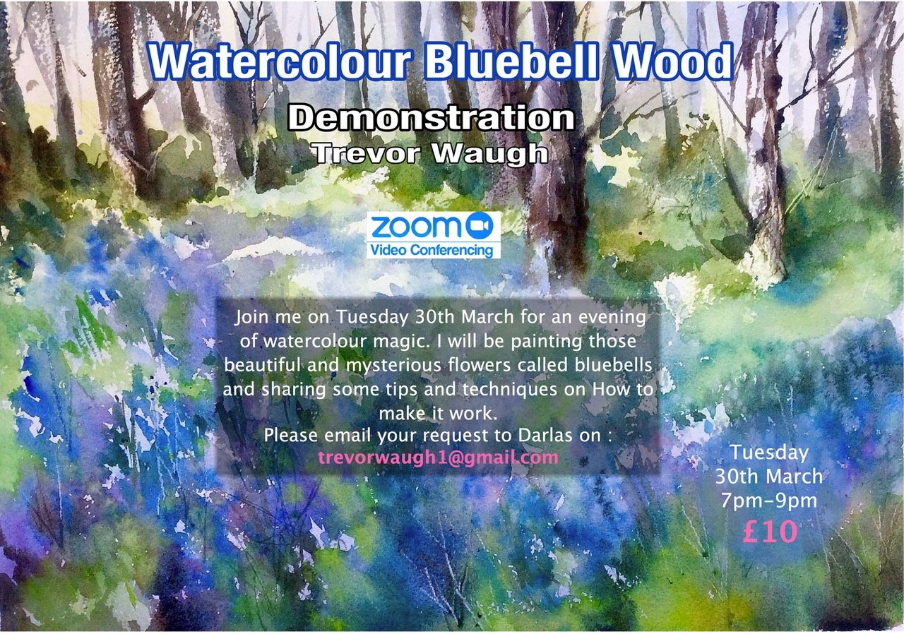 Watercolour Demonstration 30th March, Bluebell wood