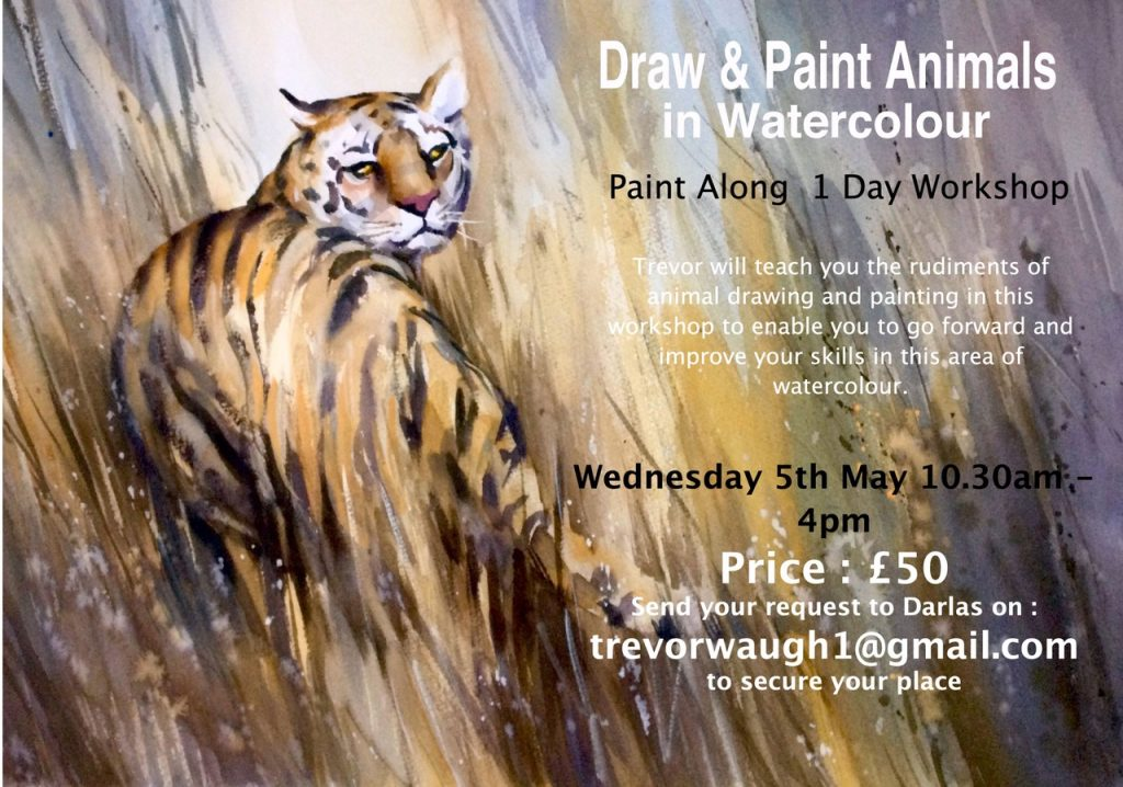 Watercolour Draw  and Paint Animals, 5th May