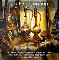 Coffee Morning open studio 30th July, 31st July 2021