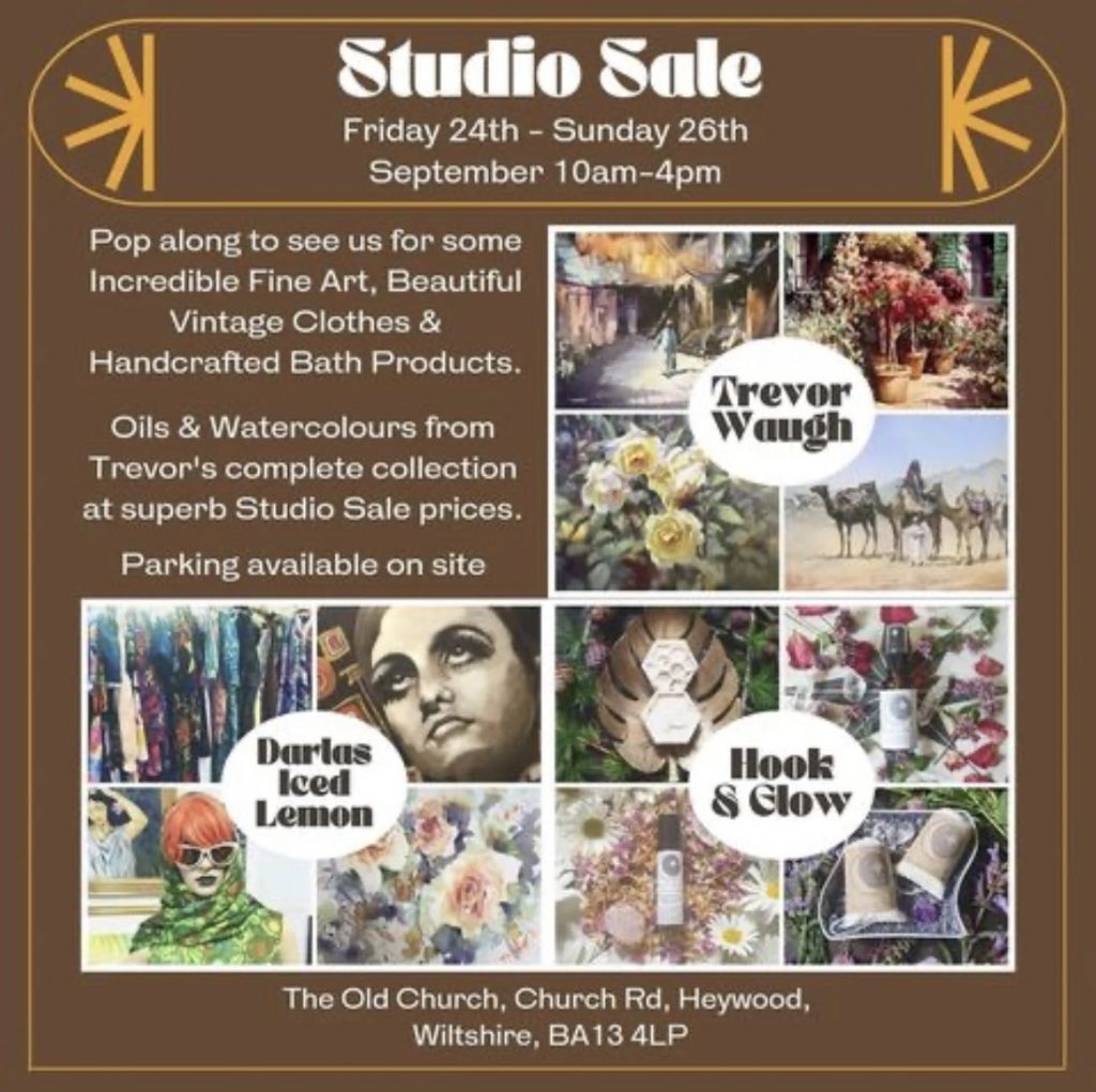 Studio Sale Oils and Watercolours 24th September